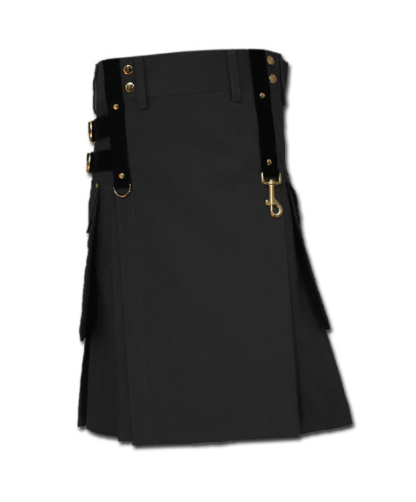Aesthetic Kilt for SteamPunk black 1