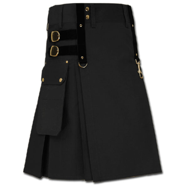 Aesthetic Kilt for Steam Punk black