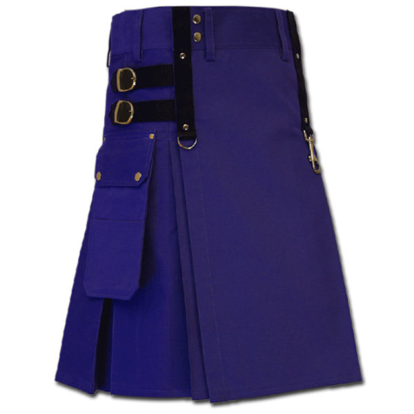 Aesthetic Kilt for Steam Punk blue