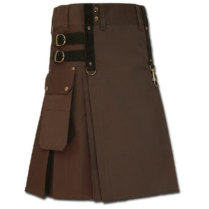 Aesthetic Kilt for Steam Punk brown