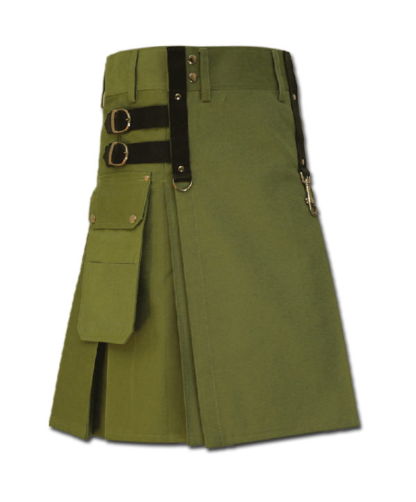 Aesthetic Kilt for SteamPunk green