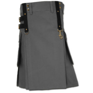 Aesthetic Kilt for SteamPunk grey 1