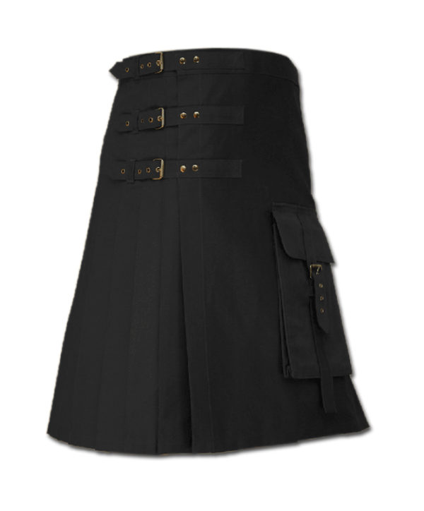 Brutal Grace Kilt for Active Men black