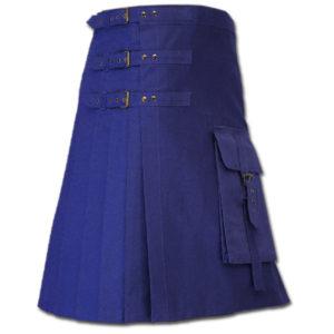 Brutal Grace Kilt for Active Men blue