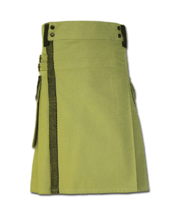 Net Pocket Kilt for Working Men green