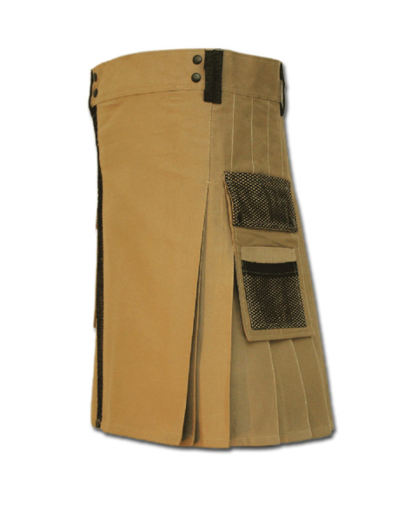Net Pocket Kilt for Working Men sand 1