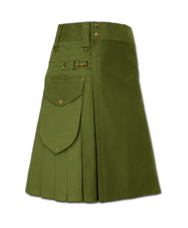Utility Kilt for Decent men green