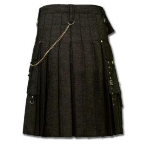 Black Denim Digital Fashion Kilt-2