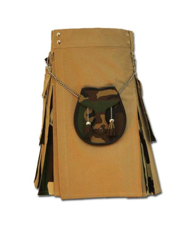 Camo Box Pleated Kilt-1