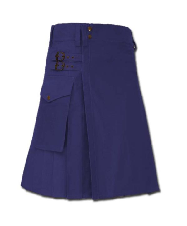 Casual Kilt for Every Men blue