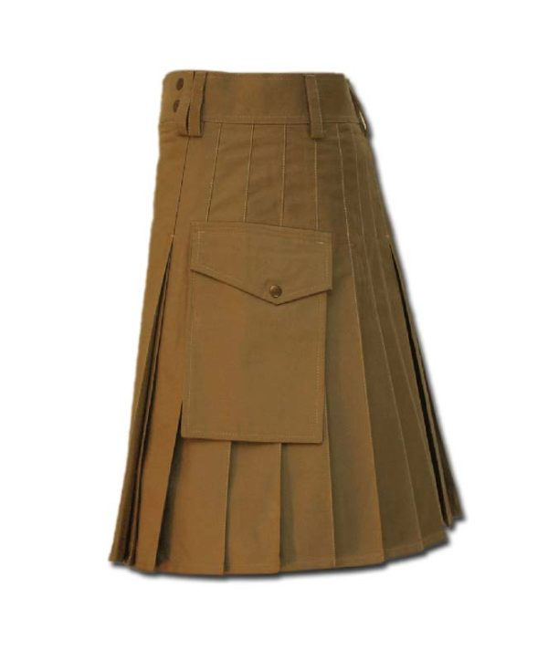 Casual Kilt for Every Men khaki 3