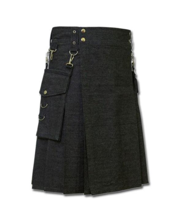 Deluxe Denim Fashionable Kilt-2