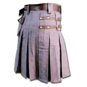 Denim and Leather Kilt