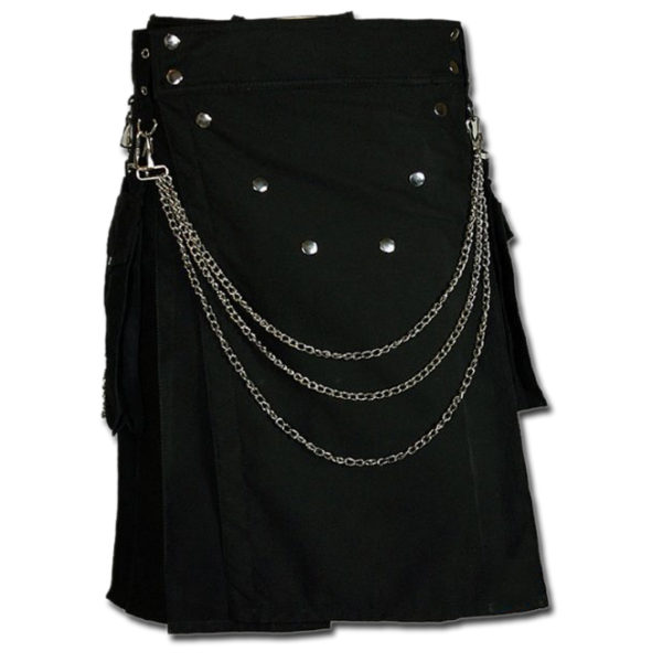 Fashion Kilt for Burning Man black 1