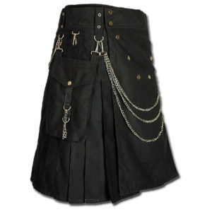 Fashion Kilt for Burning Man black