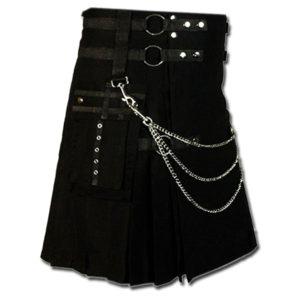 Fashion Kilt for Stylish Men black 2