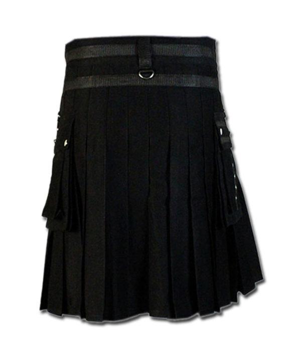 Fashion Kilt for Stylish Men black 3