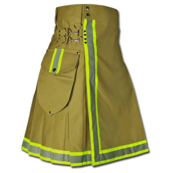 FireFighter High Visibility Kilt green1