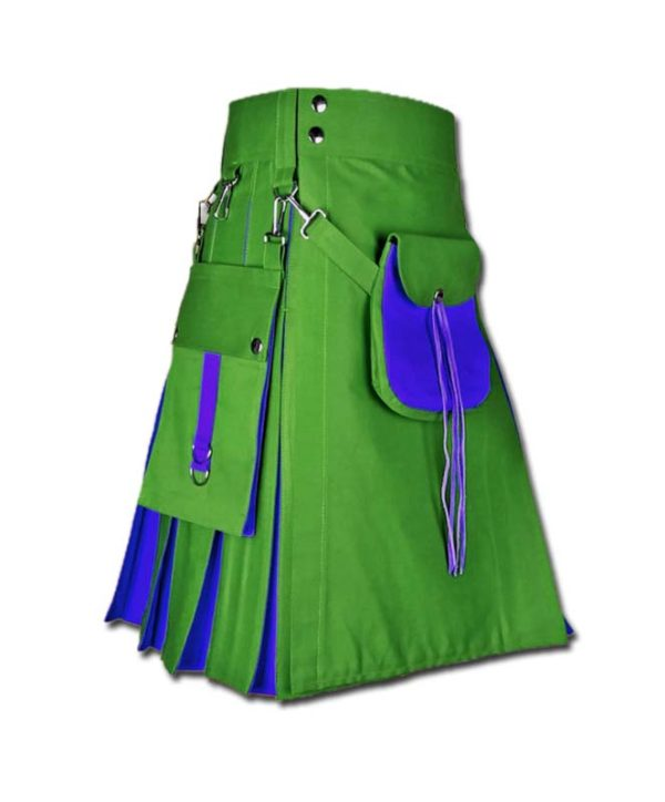 Hybrid Kilt With Sporran-green