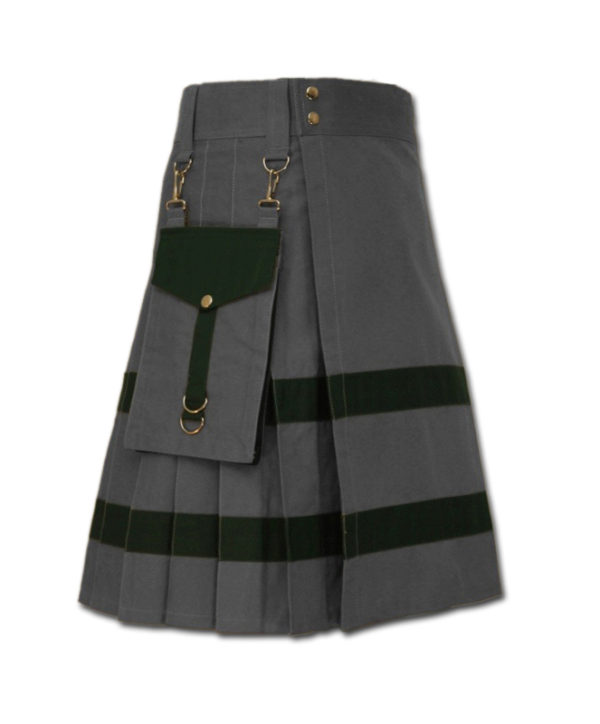 Modern Kilt For Active Men grey 1