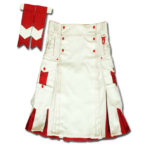 Santa claus Kilt for Stylish Men red white