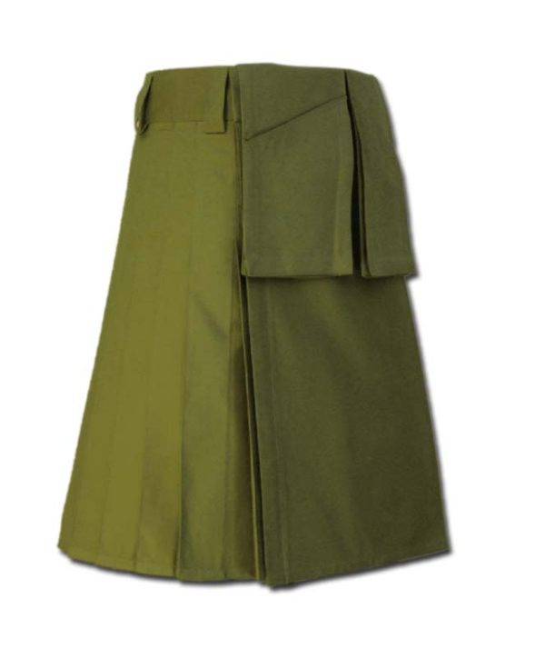 Utility Kilt for Burning Man green