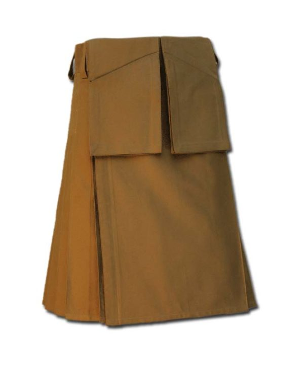 Utility Kilt for Burning Man khakki 1