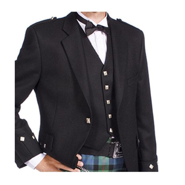 Argyle Jacket Black Barathea-3