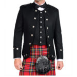 Black Sherrifmuir Jacket And Waistcoat-1