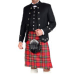 Black Sherrifmuir Jacket And Waistcoat-2