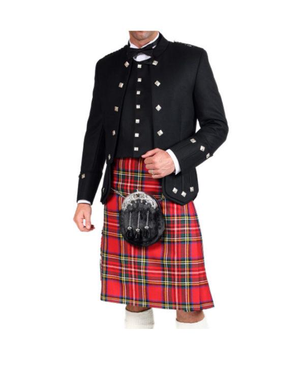 Black Sherrifmuir Jacket And Waistcoat-2