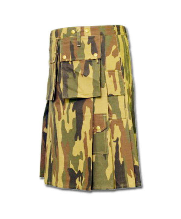 Camouflage Military Kilt-3