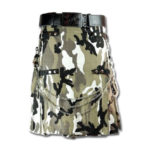 Grey Digital Camo Commando Kilt