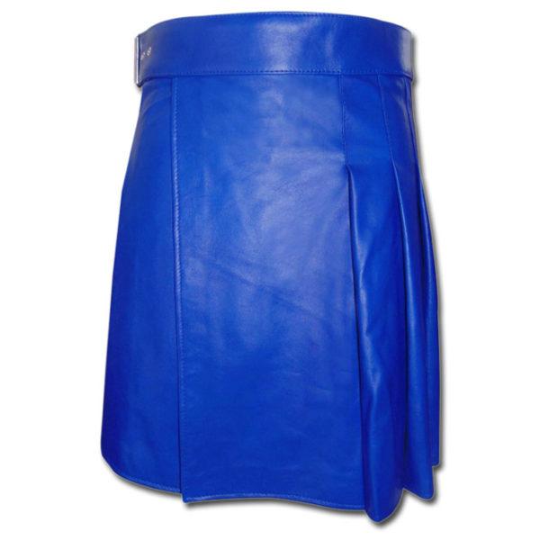 Leather Kilt-blue 1