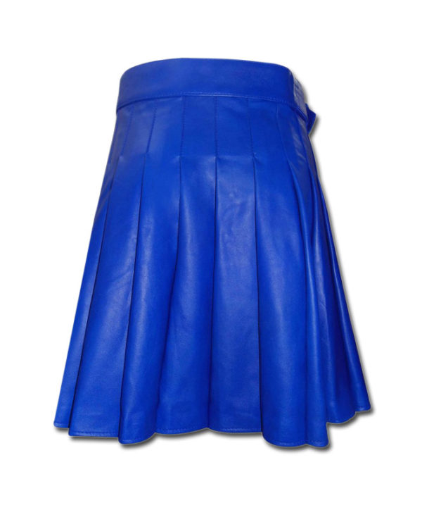 Leather Kilt-blue 2