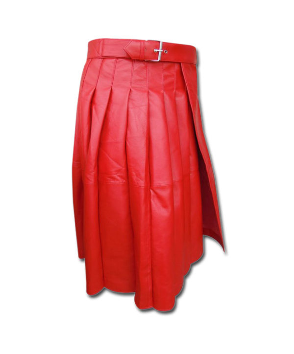 Leather Kilt-red 2