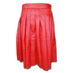 Leather Kilt-red 3
