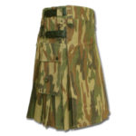 Leather Strap Camo Utility Fashion Kilt