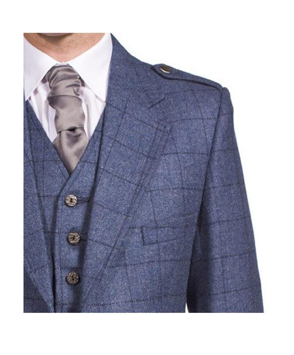 Luxury Argyle Tweed Kilt Jacket & 5 Button Waistcoat-3