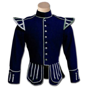 Navy Blue Highland Drummer Doublet jacket
