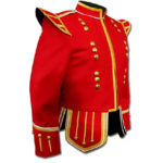 Red Highland Drummer Doublet jacket