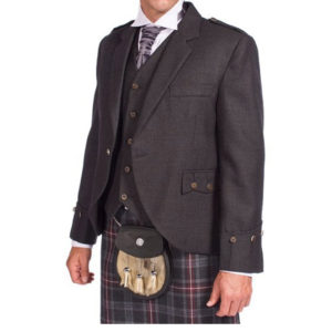 Tweed Argyle Jacket With 5 Button Vest