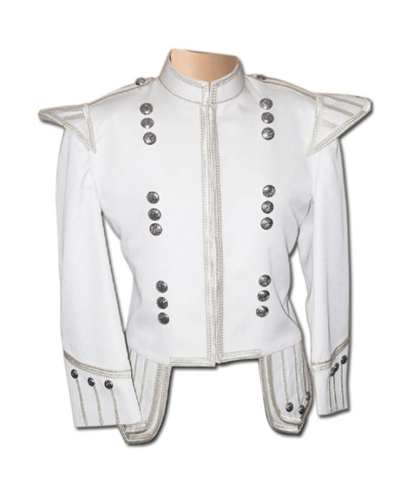 White Drummer Doublet Jacket-1