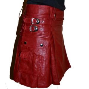 Leather Scottish Warrior Style Kilt
