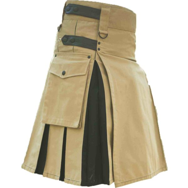 Beige-Black-Hybrid-Kilt-side-2