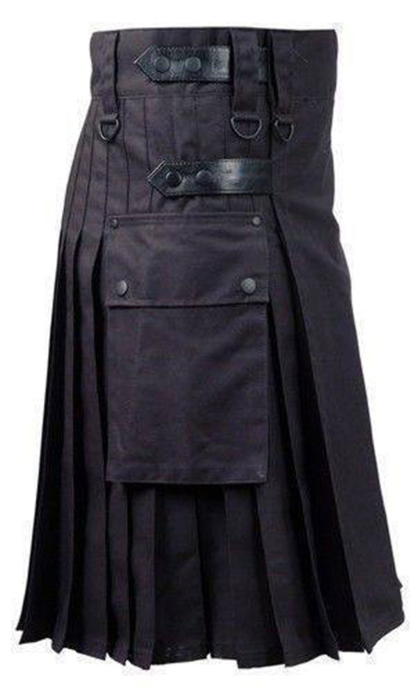 Black-Deluxe-Utility-Fashion-Kilt-side