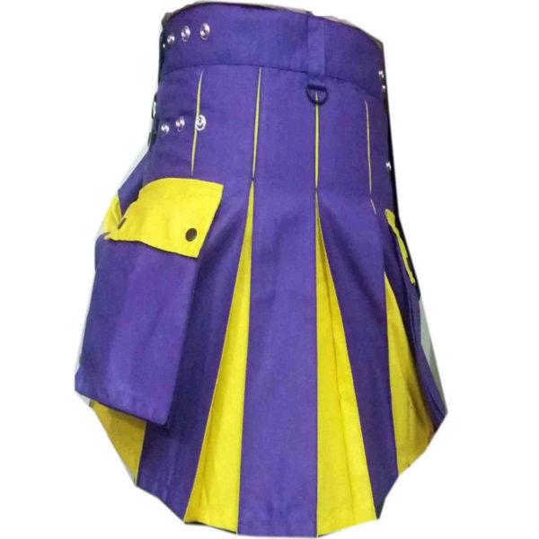Blue-Yellow-hybrid-Utility-Kilt-back-5