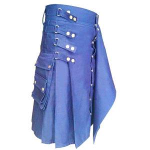 Genieun-hybrid-kilt-with-interchangeable-front-apron-blue-kilt