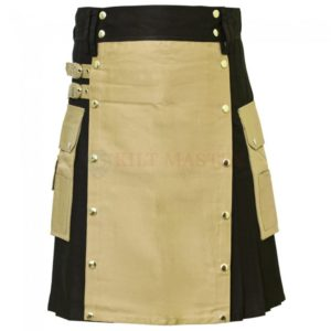 black-and-khaki-hybrid-kilt