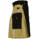 hybrid-kilt-khaki-and-black-left-side